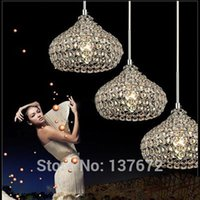 Wholesale Lustres Pendentes Led - Led Iron Crystal 18cm Simple Modern Restaurant Pendant Lights For Dining Room Modern Pendentes E Lustres Pendant Lamp
