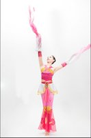 Wholesale Tibetan Dance Performing Classical Dancing Costume Chinese Traditional Dance Costume Female Stage Performance Dance Dress