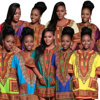 Wholesale Child New Fashion Design Traditional African Clothing Print Dashiki T shirt For Boys and Girls