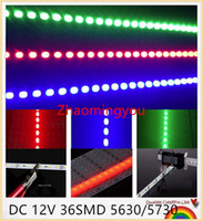 Wholesale 20pcs Multicolor super bright DC V SMD LED Hard Rigid Strip Led Bar Light Aluminium Alloy For Cabinet