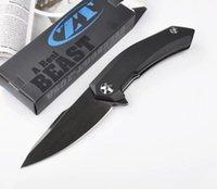 zero - zero tolerance knives cr18 blade folding knife ball bearing system plipper pocket knife high quality outdoor camping fold knives