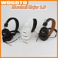 Wholesale Marshall Major I Headphones DJ Studio Headphones Deep Bass Noise Isolating headset Monitorring for iphone Samsung AAA quality