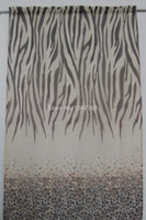 Wholesale Brand new Outfit Of Pure Polyester Fabric Leopard Lebra Prints The Curtains