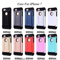 apple steel case - iphone cases Steel armor TPU PC cell phone protective covers For TPU s plus TPU Shock Proof iphone Cell Phone Cases
