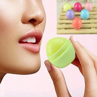 Wholesale Free DHL Creation Colorful Ball Lips Balm Lip Plumper Cute Women Men Natural Makeup Comestic Beauty Sexy Lip gloss ZJ C01