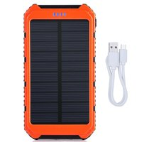 Wholesale Portable Solar Power Bank mAh Dual USB Battery Charger External Backup Power Pack