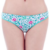 cheap panties - HL86973 Cheap ladys Sexy Cotton Brief New Arrival Fashion Leopard Red Lips Print Cotton Panties for Women Underwear Sexy Lace