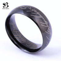 Wholesale Hot fashion couple s stainless steel The Lord of the Rings lovers magic letter King Rings can be as necklace SR00223