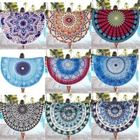 baby beach decor - Indian Round Mandala Tapestry Wall Hanging Throw Towel Boho Beach Yoga Mat Decor Home Swimming Shawl