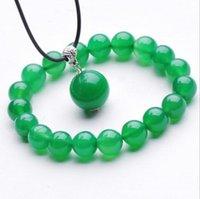 Ónix natural ágata verde jade armbanden cuentas con cuentas pulseras (regalo collar de los colgantes gratuito)