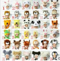 best friends costumes - Promotion New WINTER Cartoon Animal Hat Fluffy Plush Cap Unisex best Novelty gift for boy girl friend With Ear Flap