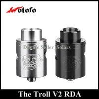 Original WOTOFO Le Troll V2 RDA 22mm Diamètre Rebuidable Dripping Atomiseur avec Velocity Deck DHL EMS Free