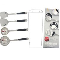 Wholesale Hot Kitchenware A Set of Four Piece Add One Stainless Steel Kitchen Things Cooking Tool Sets Kitchen Tool