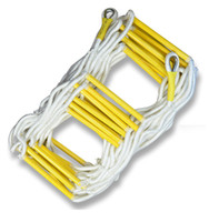 Wholesale 5M Rescue Rope Ladder FT Escape Ladder Emergency Work Safety Response Fire Rescue Rock Climbing Escape Tree With Yellow Rigid St