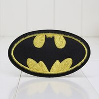 Wholesale 10pcs cm Comic Movie Superhero Batman Velvet Embroidered Iron On Applique Patch for kids