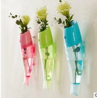 Wholesale Hanging hydroponic flower hanging fish shaped vase creative home decoration removable transparent fashion