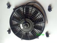 auto fan blades - 10 inch universal auto ac electric fan v watt pull Inhalation fan with straight blades