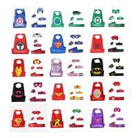 Wholesale 5pcs Superman Batman Spiderman Avengers cloak Belt wrist masks clothes show drop shipping E76