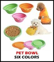 Wholesale 50pcs High Quality Grade Fold Pet Bowl Folding Dog Bowl Pet Food Dish Pet Feeders