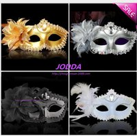 Wholesale 2016 Halloween mask of Venice princess party mask electroplating surrounding edge side flowers masquerade mask