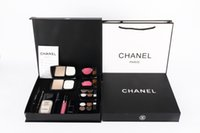 Wholesale BOX Channel Brand Makeup Set Eye Shadow Eyeliner Mascara Lipstick Lip Gloss Blush Foundation makeup set with box