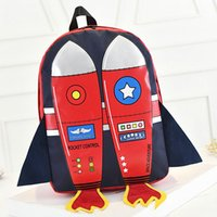 Wholesale Red Blue Rocket backpack D fly aircraft school bag Cool design day pack Nylon rucksack Quality daypack
