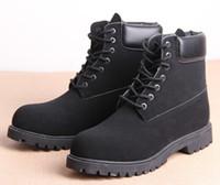 al por mayor mujer botas militares-Los cargadores calientes de la nieve del cuero genuino de los zapatos de las mujeres de los hombres del invierno del otoño impermeabilizan los zapatos militares de Martin de los zapatos militares ocasionales, zapatos mujer