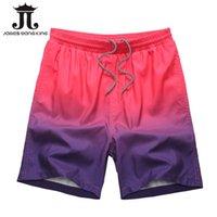 Wholesale bermuda Beach shorts mens Gradient color boardshorts men board Quick short plus size M XL