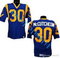 angeles games - 1970s Lawrence McCutcheon Game Los Angeles blue throwback Jersey size small xl all stitted jersey top quality Cheap