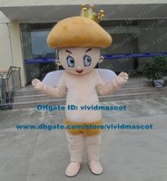 agaric mushroom - Brave Skin Color Mushroom Prince Agaric Infante Penester Mascot Costume Cartoon Character Mascotte Adult White Wings ZZ1565 FS