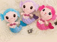 baby mermaid games - 3 color LJJK188 Plush Mermaid Princess Doll Girl Birthday Wedding Gift Creative Toy Soft Plush Gift Baby Creative Toy