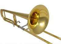 Wholesale Bb F Tenor Slide Trombone with Wood case and Mouthpiece Musical instruments Factory Supply