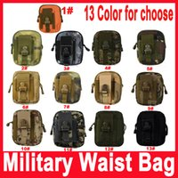 Wholesale Military Outdoor Waterproof Nylon Tactical Waist Fanny Pack Belt Bag EDC Camping Hiking Travel Sports Pouch Wallet Phone Bag
