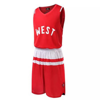 Wholesale 2016 All Star basketball clothes suit men basketball jerseys basketball game training uniforms Acrylic Basketball wears can be customized