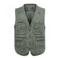 Wholesale Fall XL XL Multi Function Vests High Quality Casual Big Size Outdoor Men Hunting Vest