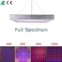 Wholesale W W W W High Power Plant lamp AC85 V Full Spectrum LED Greenhouse Plants Hydroponics Flower Panel Grow Light
