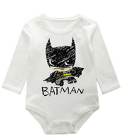 Wholesale Retail Batman Printed Baby Girl Romper High Quality Long Sleeve Newborn Jumpsuit Kids Baby Clothes New Cartoon Batman Baby Boy Rompers
