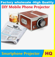 Wholesale Cardboard Smartphone Projector DIY Portable Mobile Phone mini Cinema Theater For iphone plus Android Phones