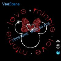 best metal for heat transfer - 20 Iron On Strass Motif Best Love Mouse Rhinestone Heat Transfer Designs For Sports t Shirts