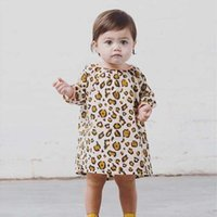 Wholesale Baby Dress Kid Princess Dresses Fashion Leopard Dress Girl Dress Autumn Long Sleeve Dresses Children Clothes Kids Clothing Ciao C26902