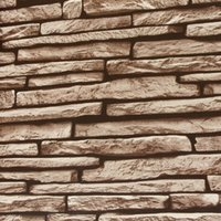 Wholesale D PVC deep cultural stone embossed wallpaper style hotel entrance simulation stone wallpaper non adhesive