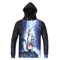 active cats - New Winter Autumn Hooded Jacket Space galaxy Hoodies Printed D Lightning Cat Hero Men Hoodies Long Sleeve Sweaters Pullovers T Shirt M XXXL