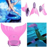 Wholesale Hot New Mermaid Tail Mono Fin Flippers Swimmable Swimming Toy Prop For Kids Girls Study D397