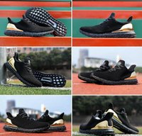 anniversary rubber - Originals Hypebeast th Anniversary Uncaged Ultra Boost Black Gold Sneaker Womens Mens Sports Running Shoes Size