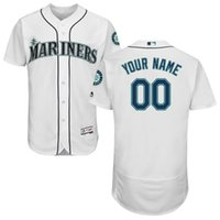 Wholesale Elite Men s baseball jerseys Seattle MarinersMajestic Flexbase Authentic Collection Custom Jersey hernandez Griffey size M XXXL