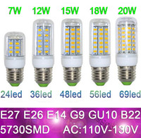 Wholesale LED Light E27 LED Bulbs W W W W W V Lumen Cree SMD GU10 E14 B22 G9 Led lights Corn Lighting