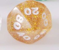 Wholesale Flash Powder Sided Dice D10 Funny Toys Polyhedral Boson Family Games Party Game Dice Novelties Entertainment Toy Good Price P16