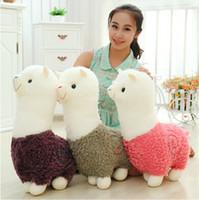 8-11 Years alpaca soft toy - 45cm Alpaca Plush Toy Doll Cotton Soft Stuffed Animal Birthday Plush Toys For Baby Kid Children Gift