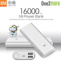 Wholesale 2016 New Original Xiaomi Power Bank mAh Dual USB Xiaomi Portable Charger Powerbank For iPhone SE S S7 S6 Note