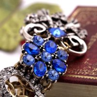 beads quotes - 2015 Luxurious Blue Crystal Charm Bracelet Min can mix Cheap bracelet quotes